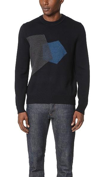 Z Zegna Intarsia Pentagon Sweater