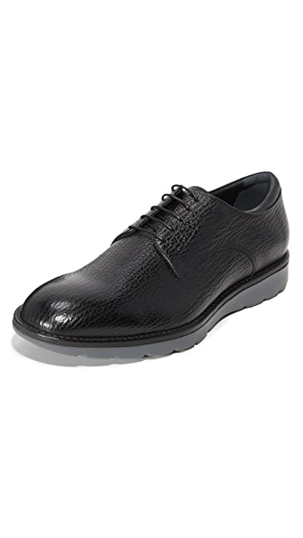 Z Zegna Hybrid Derby Lace Up Shoes