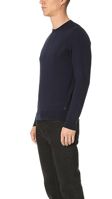 Z Zegna Merino Wool Crew Sweater