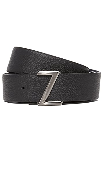 Z Zegna Z Logo Reversible Adjustable Belt