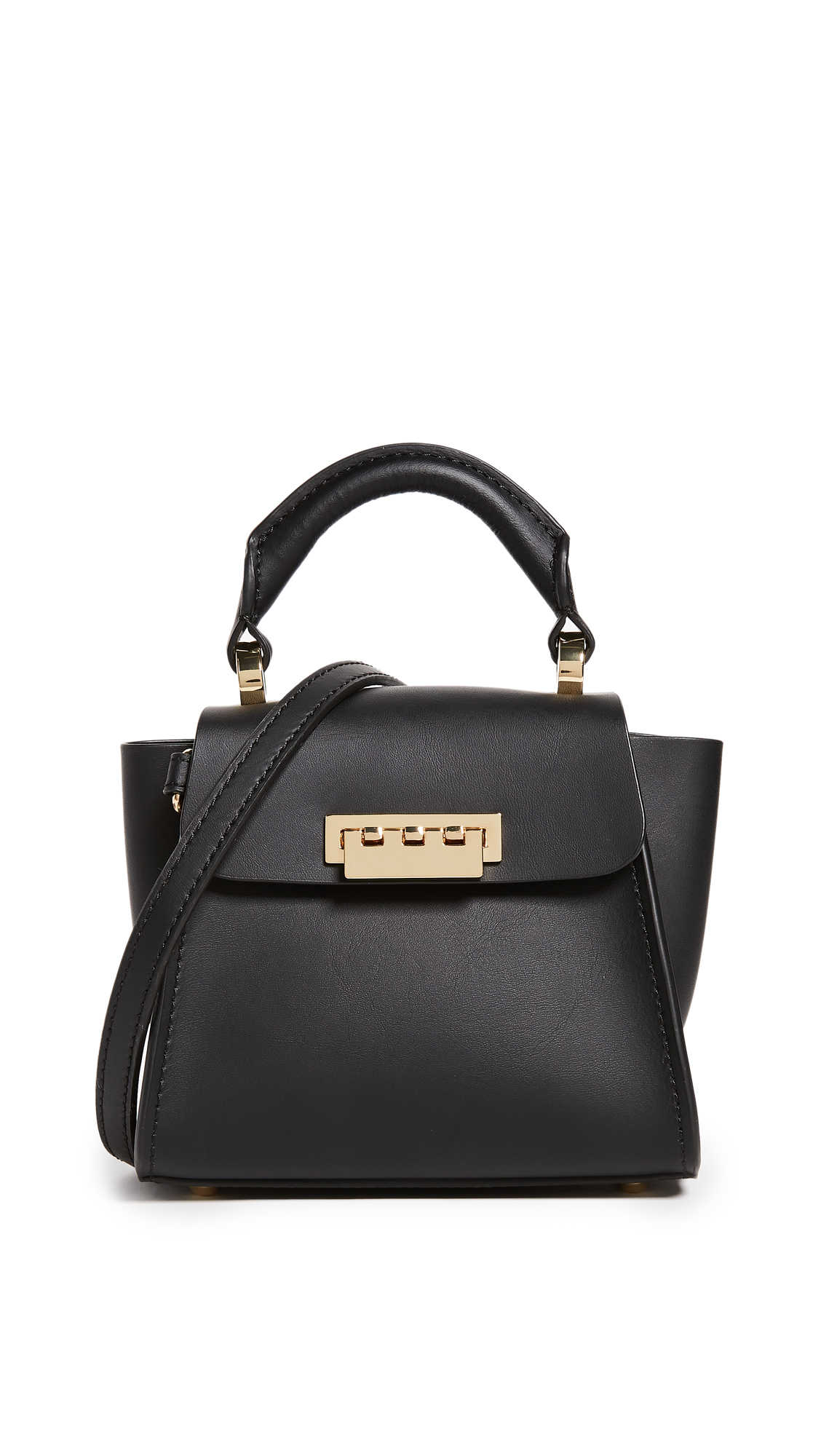 ZAC Zac Posen Eartha Top Handle Mini Cross Body Bag - Black