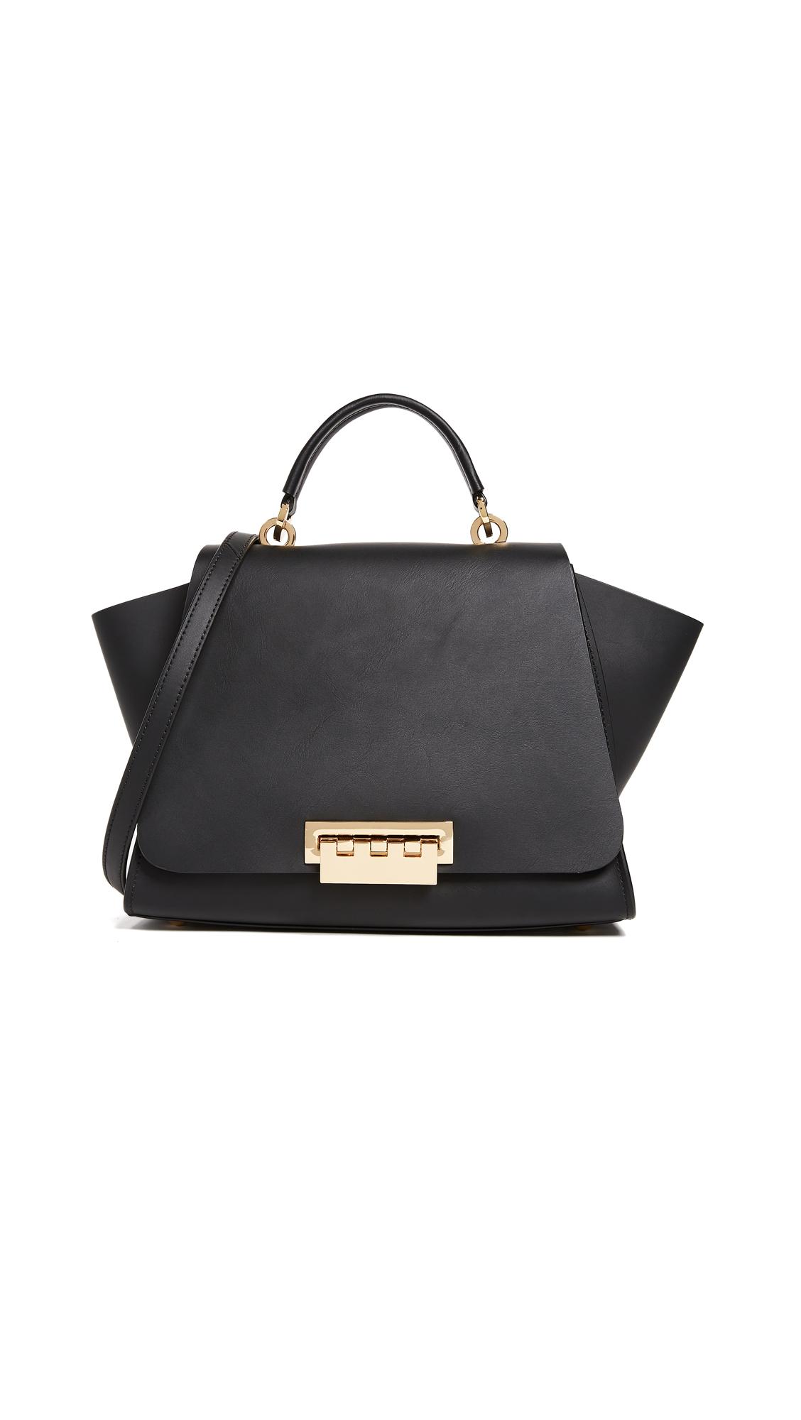 ZAC Zac Posen Eartha Soft Top Handle Bag - Black