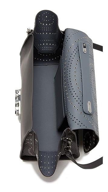 ZAC Zac Posen Eartha Iconic Soft Top Handle Perforation Bag