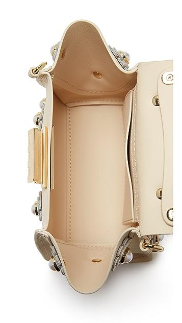 ZAC Zac Posen Eartha Floral Top Handle Mini Cross Body Bag