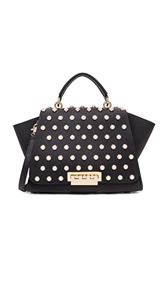 ZAC Zac Posen Eartha Imitation Pearl Lady Soft Top Handle Bag