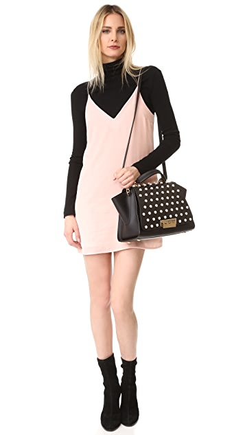 ZAC Zac Posen Eartha Imitation Pearl Lady Soft Top Handle Bag