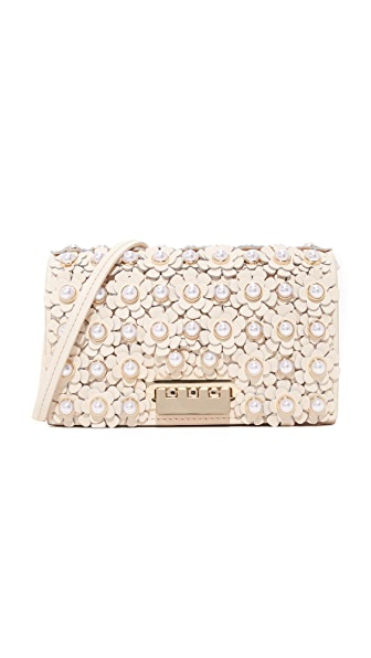 ZAC Zac Posen Earthette Floral Cross Body Bag - Ivory