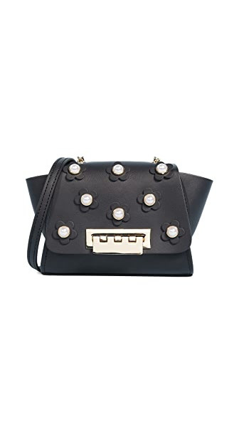 ZAC Zac Posen Eartha Mini Chain Cross Body Bag In Black