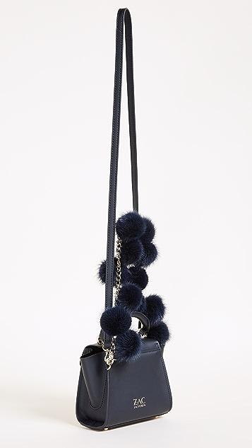 ZAC Zac Posen Fur Pom Eartha Mini Top Handle