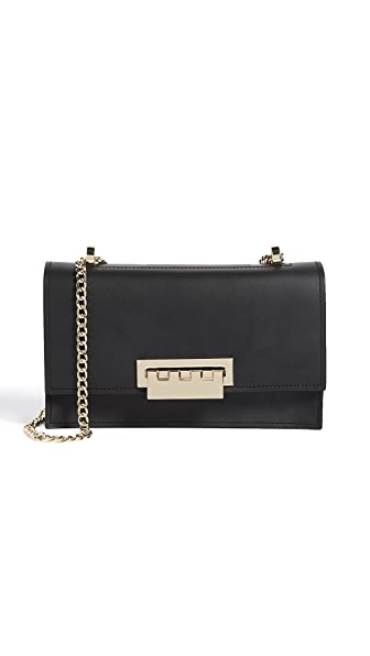 ZAC Zac Posen Earthette Chain Shoulder Bag In Black