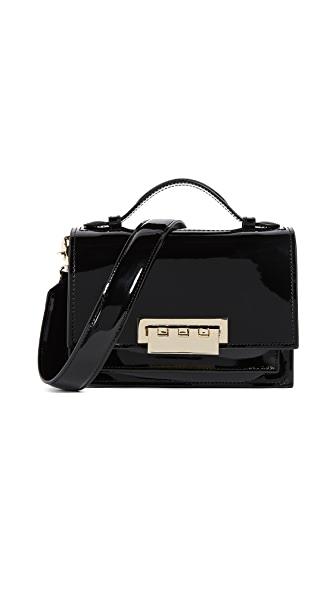 ZAC Zac Posen Earthette Accordion Shoulder Bag In Black