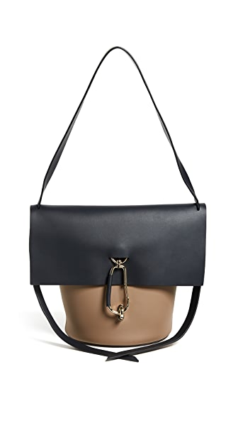 ZAC Zac Posen Belay Shoulder Colorblock Handbag In Navy