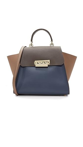 ZAC Zac Posen Colorblock Eartha Iconic Top Handle Bag In Tide