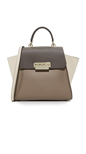 ZAC Zac Posen Colorblock Eartha Iconic Top Handle Bag - Urchin