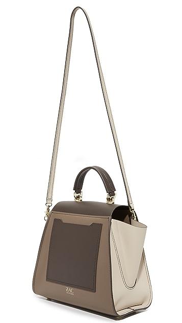 ZAC Zac Posen Colorblock Eartha Iconic Top Handle Bag