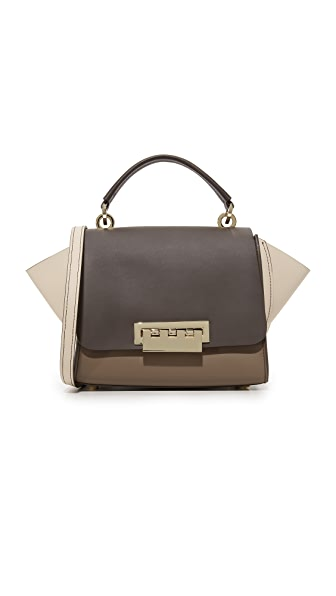 ZAC Zac Posen Colorblock Eartha Iconic Top Handle Cross Body Bag - Urchin