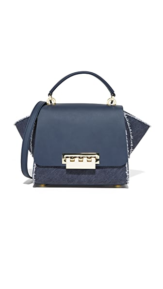 ZAC Zac Posen Denim Eartha Iconic Cross Body Bag In Tide
