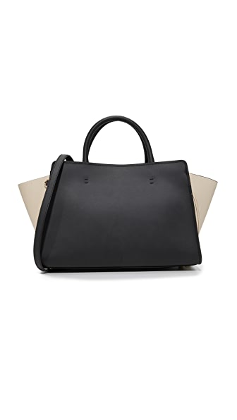 ZAC Zac Posen Eartha Iconic East West Satchel - Black