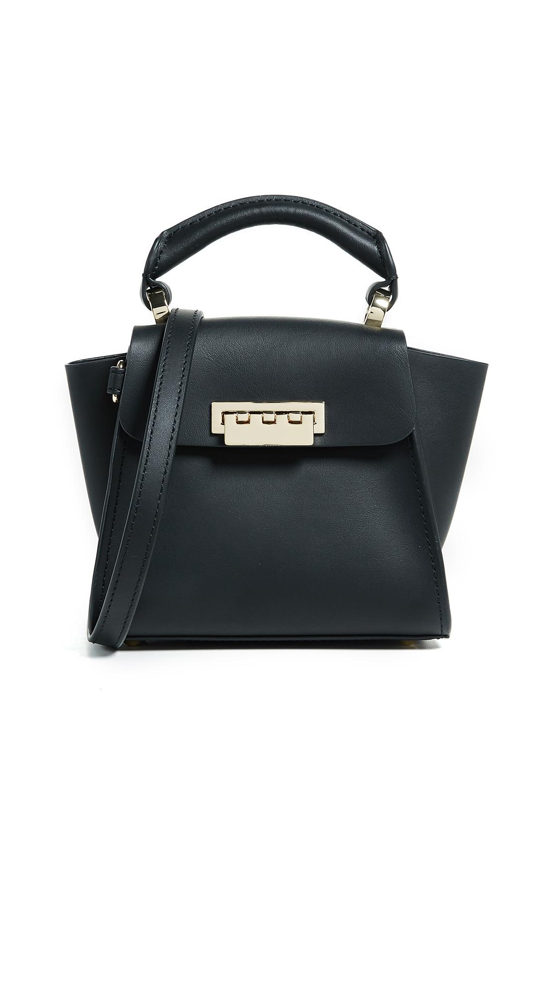 0f261de5e3 Zac Zac Posen Eartha Mini Top-Handle Leather Satchel In Black ...