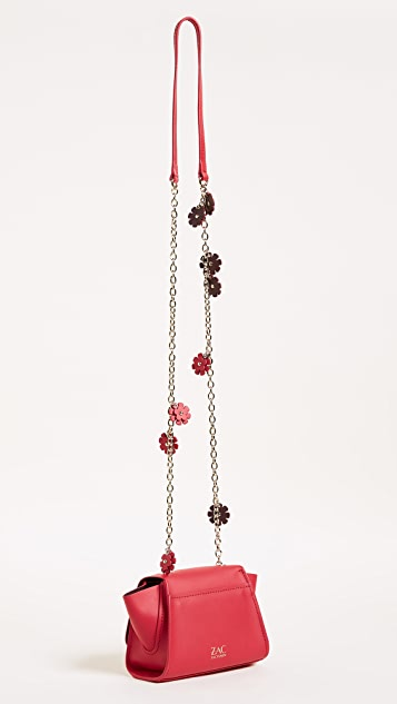 ZAC Zac Posen Eartha Iconic Floral Mini Chain Cross Body Bag