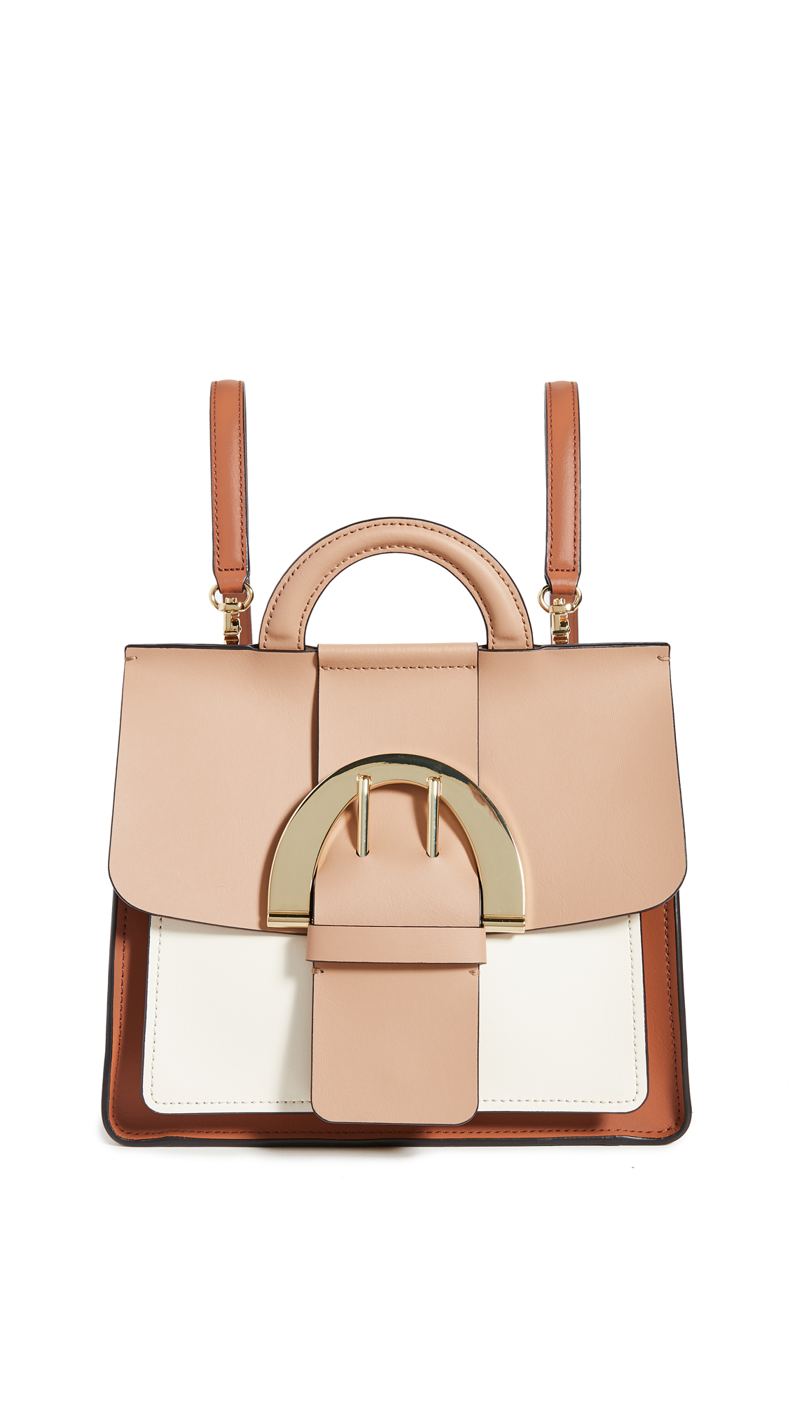 Zac Zac Posen Biba Buckle Backpack In Latte