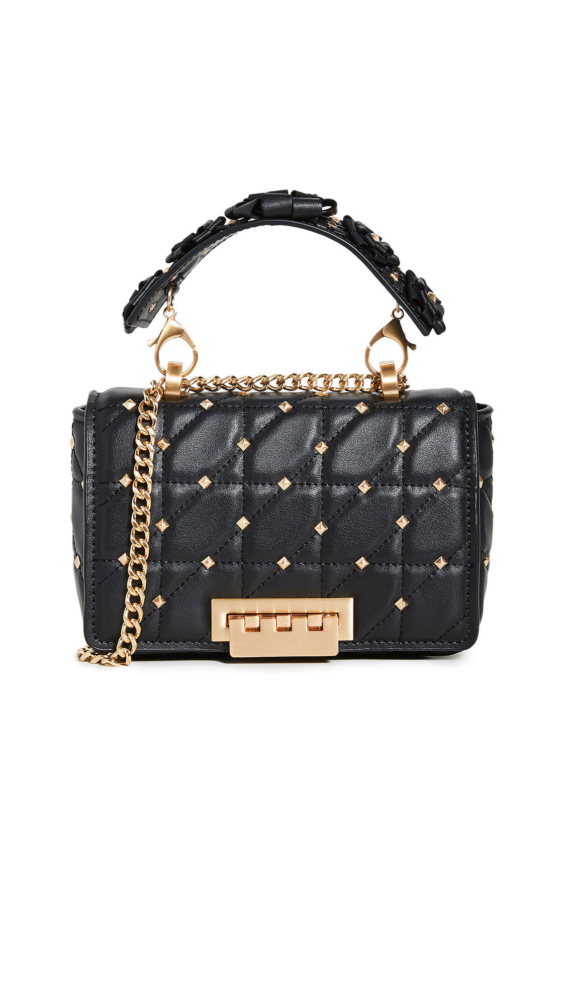 Zac Zac Posen Earthette Small Chain Shoulder Bag In Black
