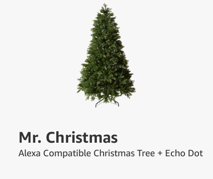 Mr. Christmas Christmas Tree and Echo Dot Bundle