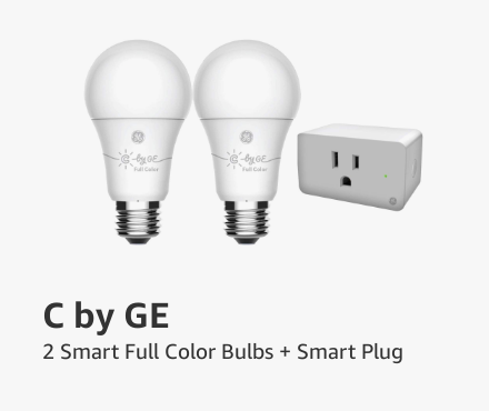 C by GE Smart Full color bulbs + Plug