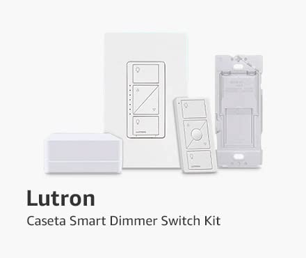 Caseta by Lutron Smart start kit, Dimmer Switch (2 count) with smart bridge and pico remotes
