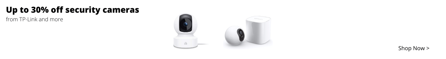 Up to 30 percent off security cameras from TP-Link and more.