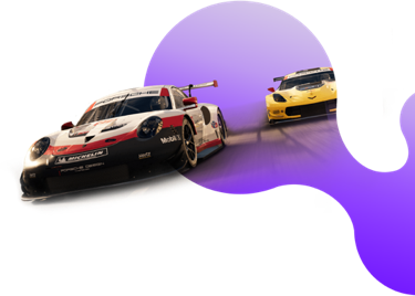 A background image featuring two race cars from Grid