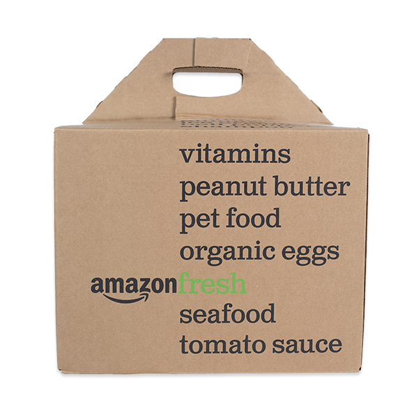 Amazon Fresh Cardboard Box