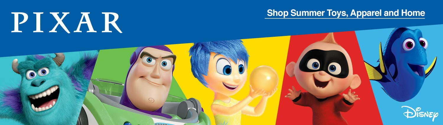 Pixar summer toys, apparel & home
