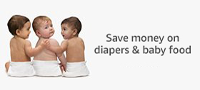 Save money on diapers and baby food