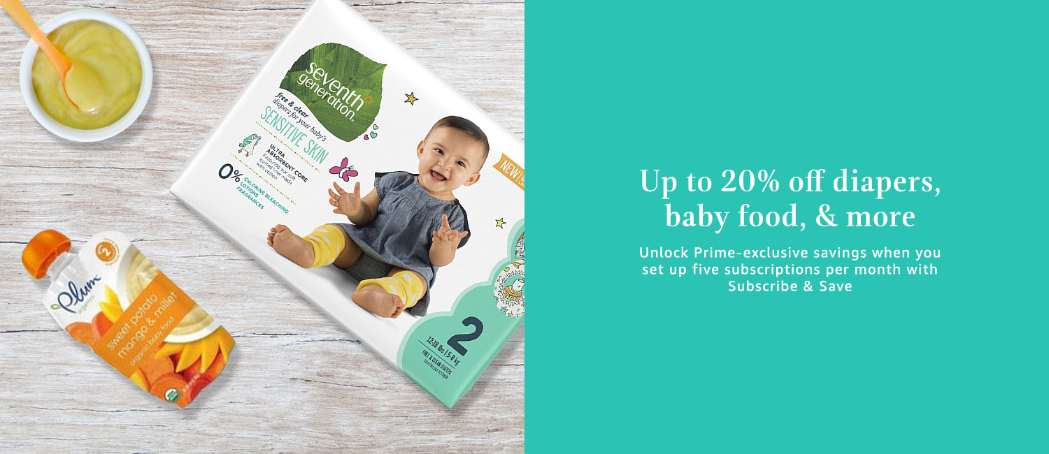 Up to 20% off diapers and baby food