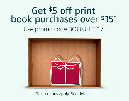Get $5 off print book purchases over $15