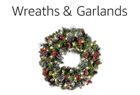 wreaths garlands - Amazon Christmas