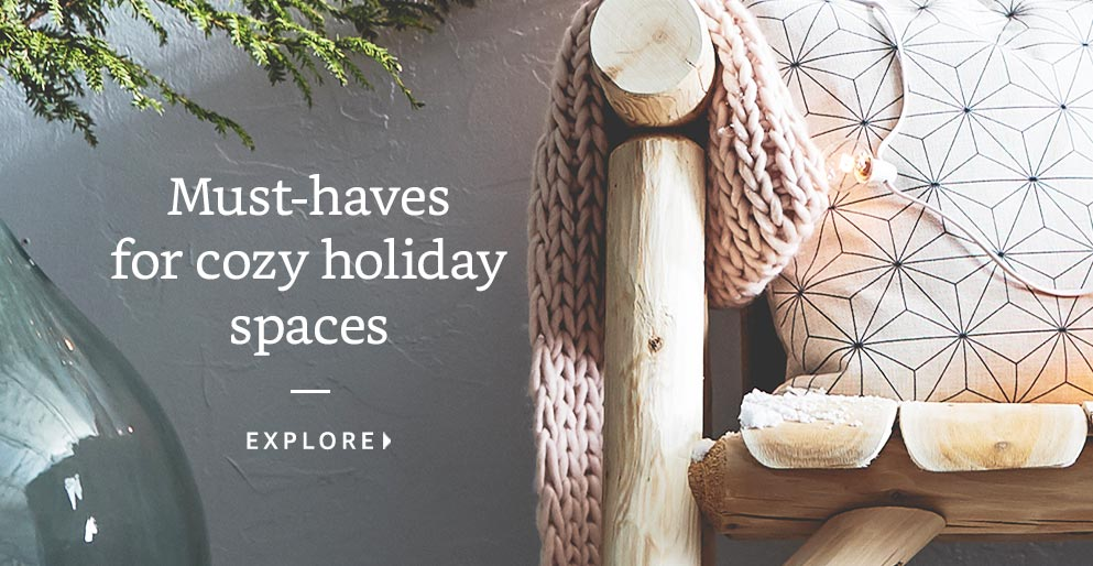 Must-haves for cozy holiday spaces