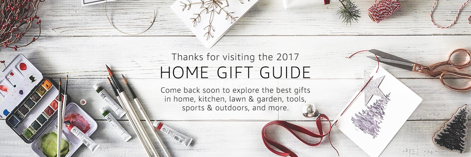 Thanks for visiting the 2017 Home Gift Guide. Come back soon to explore teh best gifts for in and around the home.