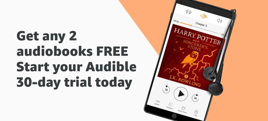 Get any 2 audiobooks FREE. Start your Audible 30-day trial today.