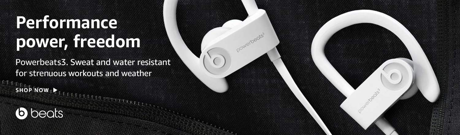 Powerbeats3 sports headphones sweat and weather resistent