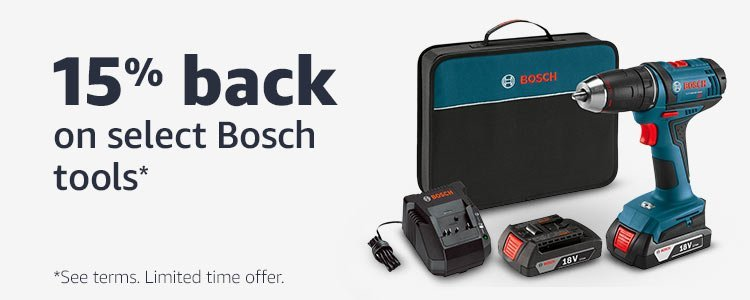 20% back on select Bosch tools*