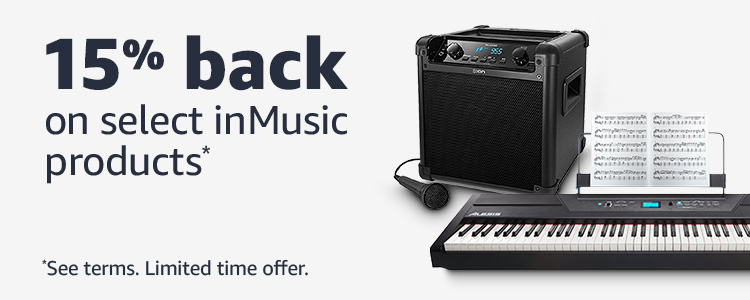 15% back on select inMusic products*