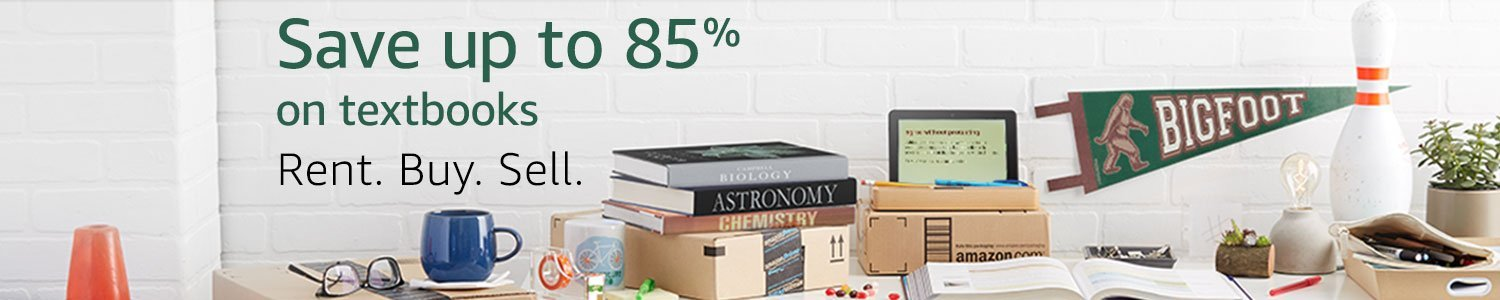 Save up to 85% on textbooks