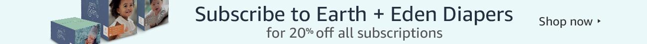 20% off Earth + Eden Diapers