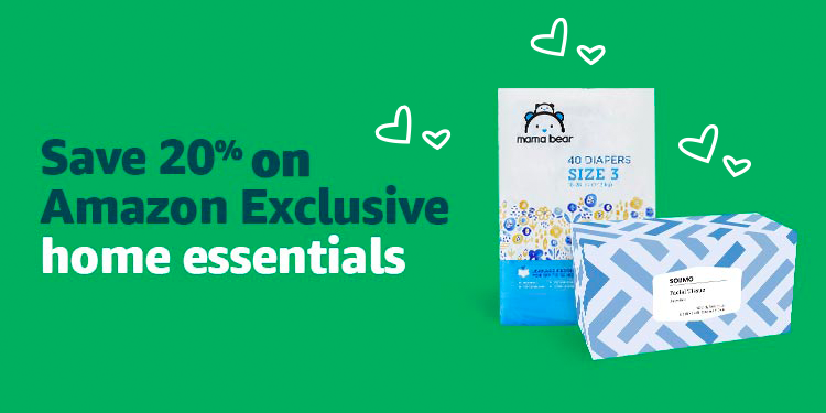Save 20% on Amazon Exclusive home essentials essentials