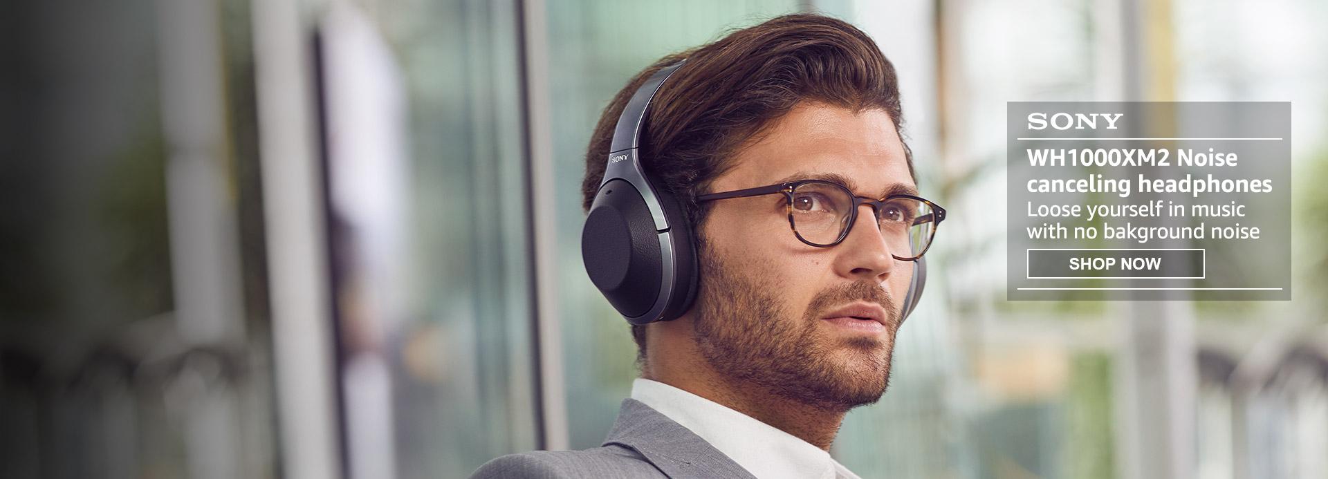 WH1000XM2 noise cancelling headphones