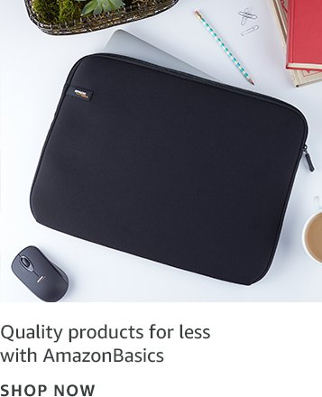 Quality products for less with AmazonBasics