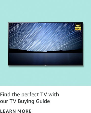 Find the perfect TV with our TV Buying Guide