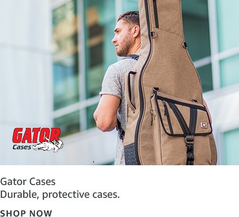 Durable, protective cases; Gator Cases logo